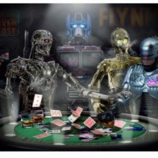 Androids playing Poker 24x30