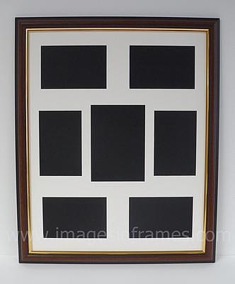 WalnutGold 50cm x 40cm Multi-Picture Frame (2)