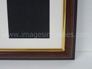 Walnut/Gold 50cm x 40cm
