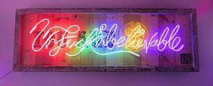 Colourful Language My Sweet (Original Neon Art)