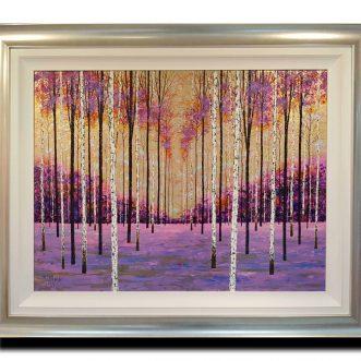 Birch in Mauve by Alex Jawdokimov