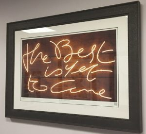 The Best is yet to come by Neon artist Courty