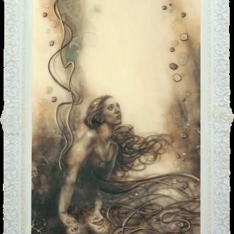Lady of Shalott framed