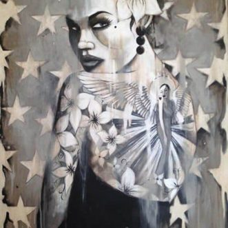 Girl With The Angel Tattoo by Terry Bradley