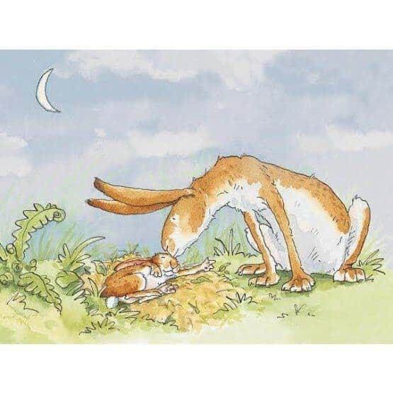 Guess How Much I love you-Right up to the moon kiss by Anita Jeram