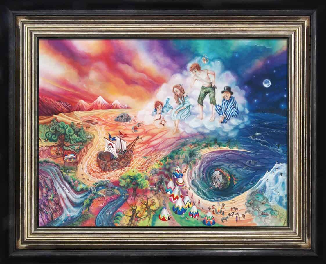 Peter Pan Neverland Framed By Kerry Darlington