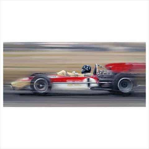 Graham Hill On The Limit By Anthony Dobson