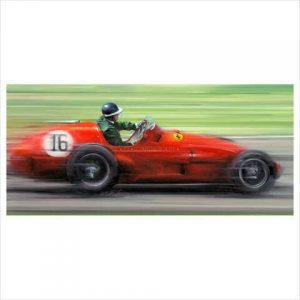 Mike Hawthorn on the limit by Anthony Dobson