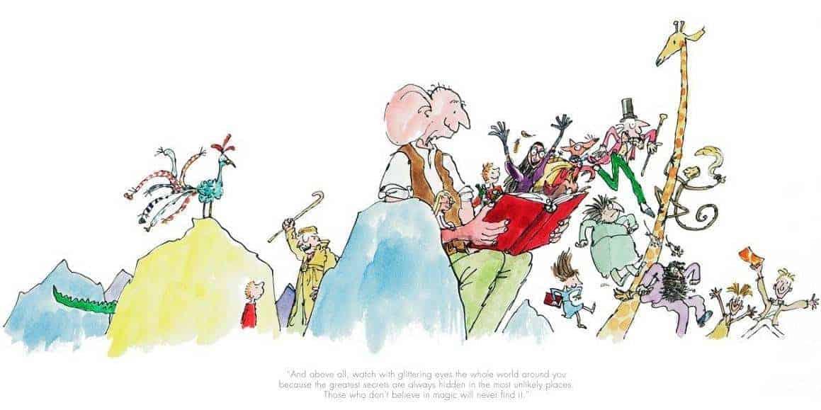 Roald Dahl Anniversary Print By Quentin Blake