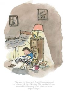 She travelled all over the world-Matilda-Quentin Blake