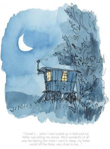 When i was tucked up in bed by Quentin Blake