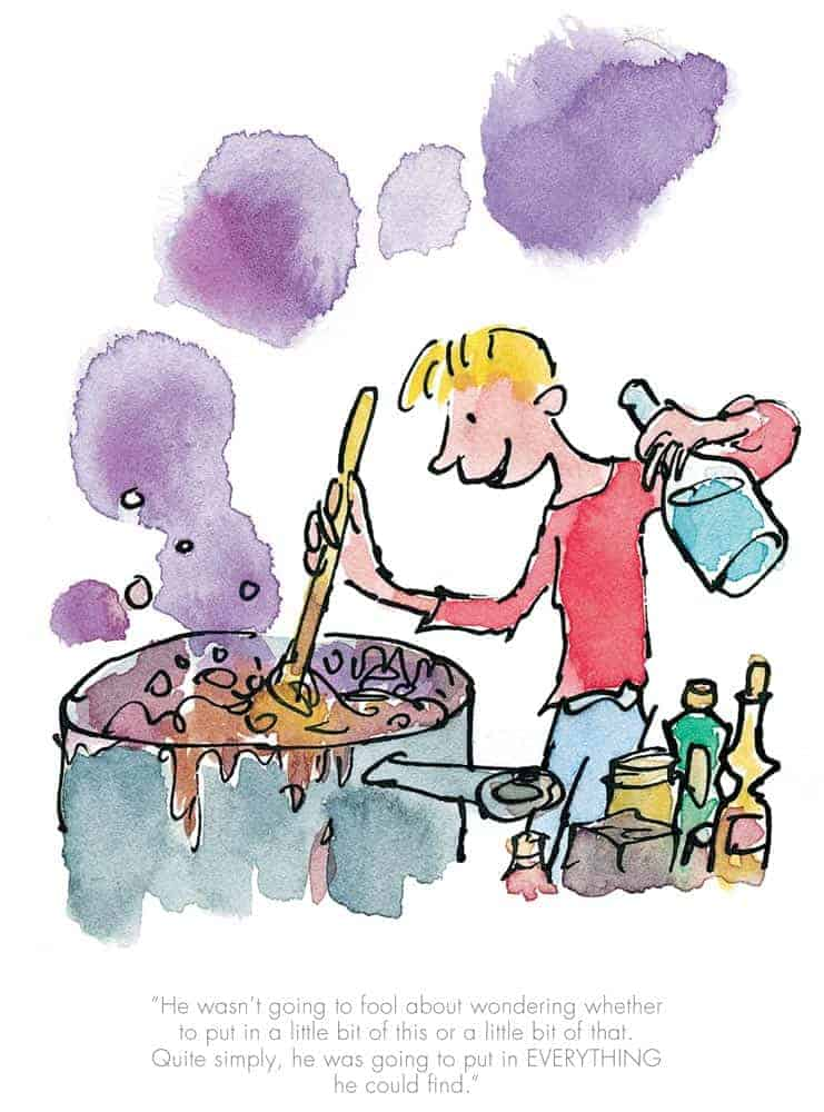 He Put In Everything He Could Find by Quentin Blake