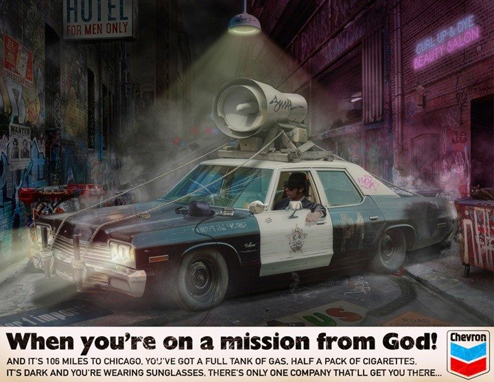 When You're On A Mission From God By JJ Adams Artist.