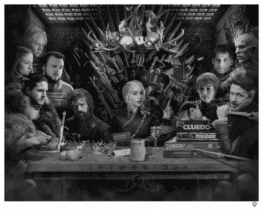 Board-Games of thrones by JJ Adams Artist