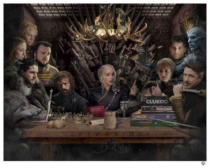 Board-Game of Thrones by JJ Adams Artist