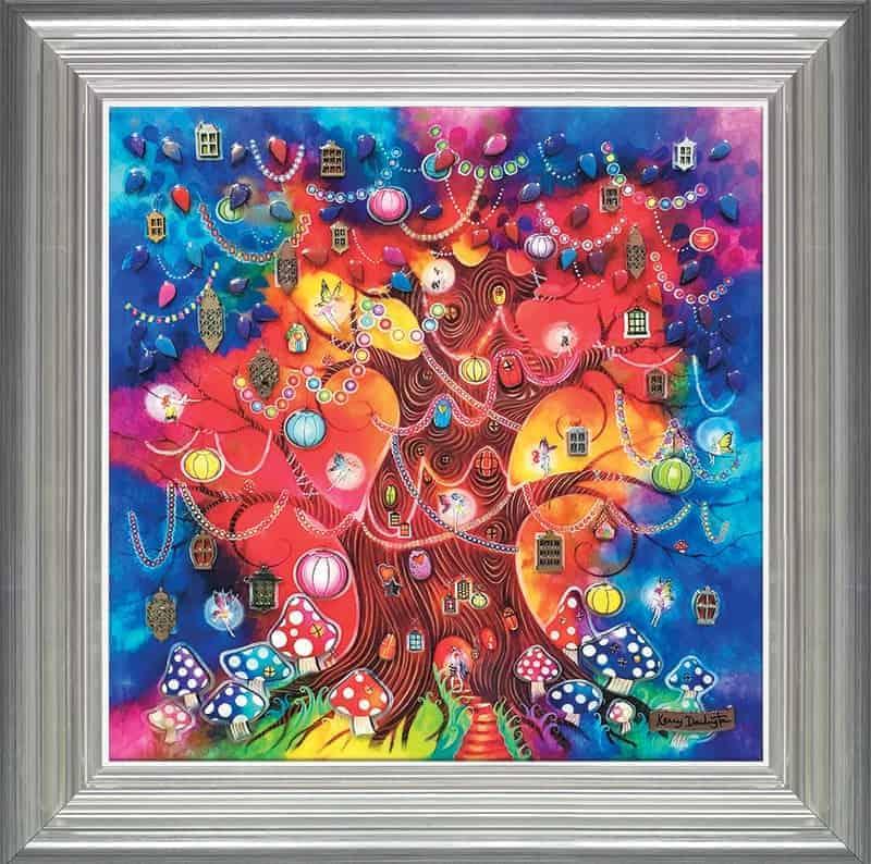 A tree of light framed
