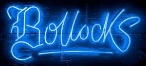 Bollocks electric blue