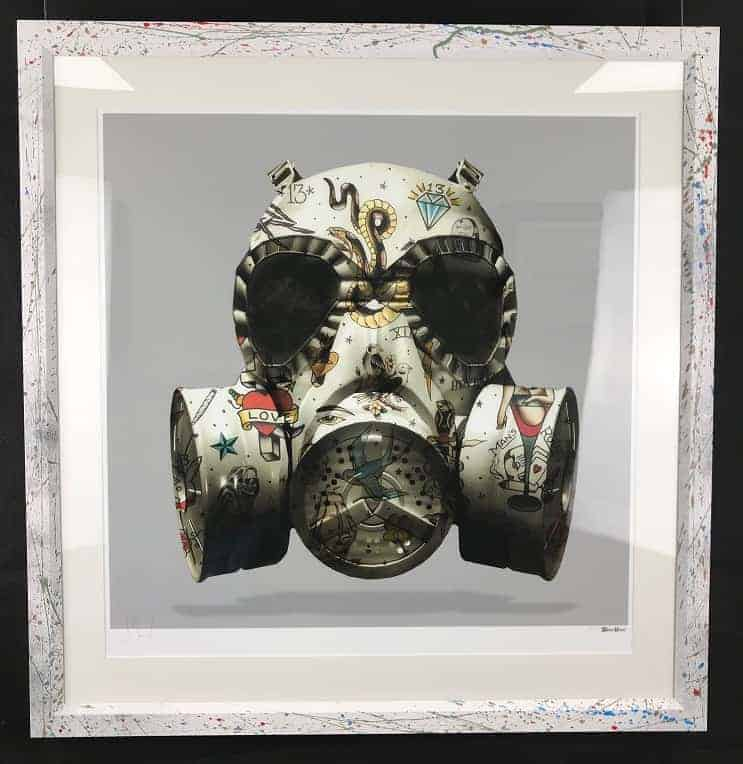 Monica Vincent – Emb Frame Grey Gas Mask