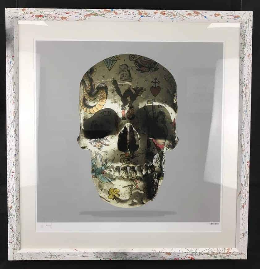 Monica Vincent – Emb Frame Grey Single Skull