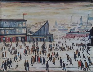 In The Style Of L.S. Lowry – Going to the Match