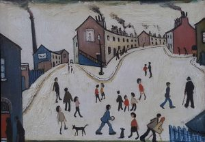 In The Style Of L.S. Lowry – Street Scene
