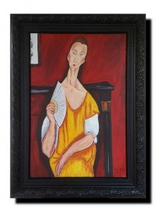 In The Style Of Modigliani – Woman with Fan