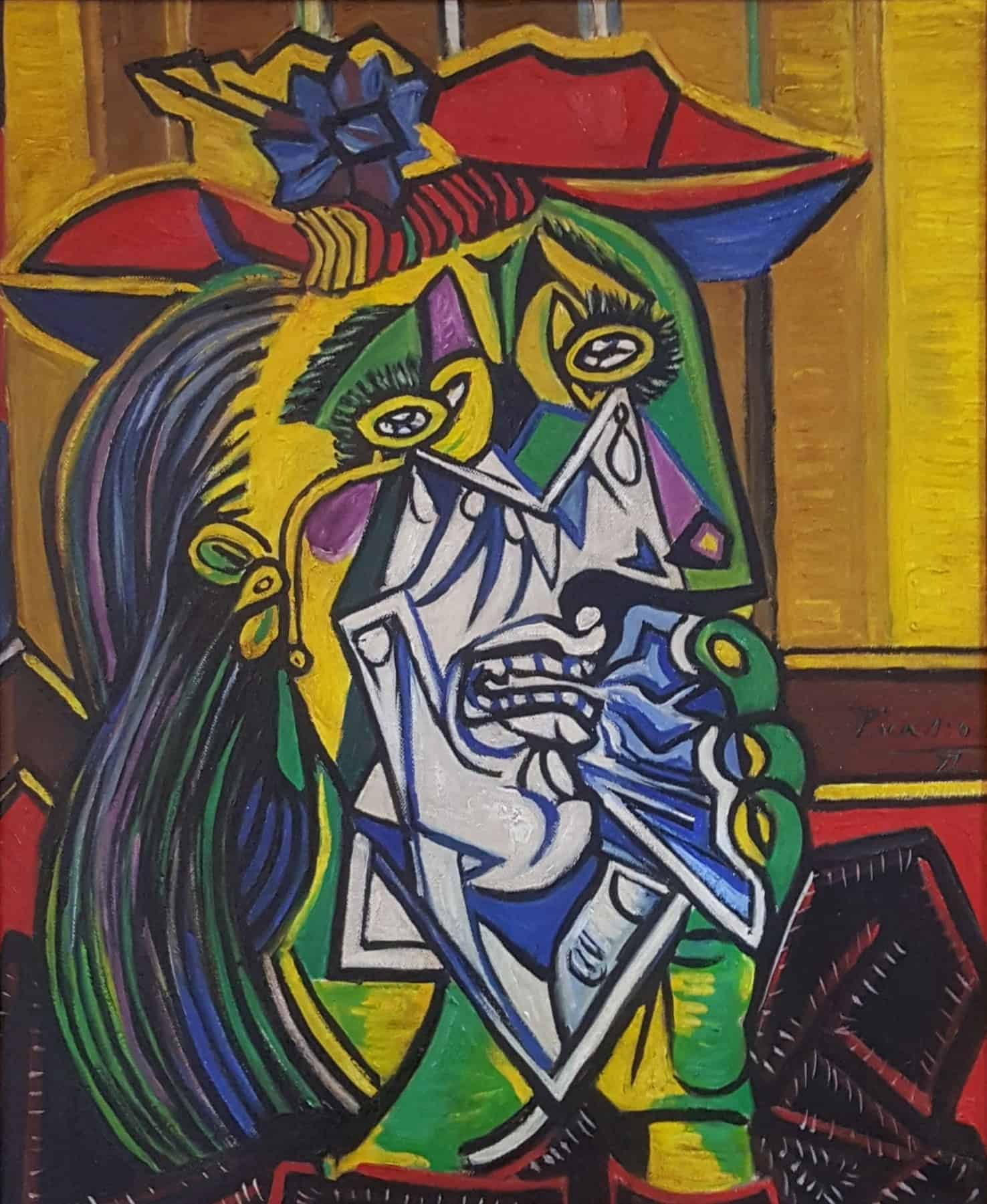 In The Style Of Picasso – Weeping Woman