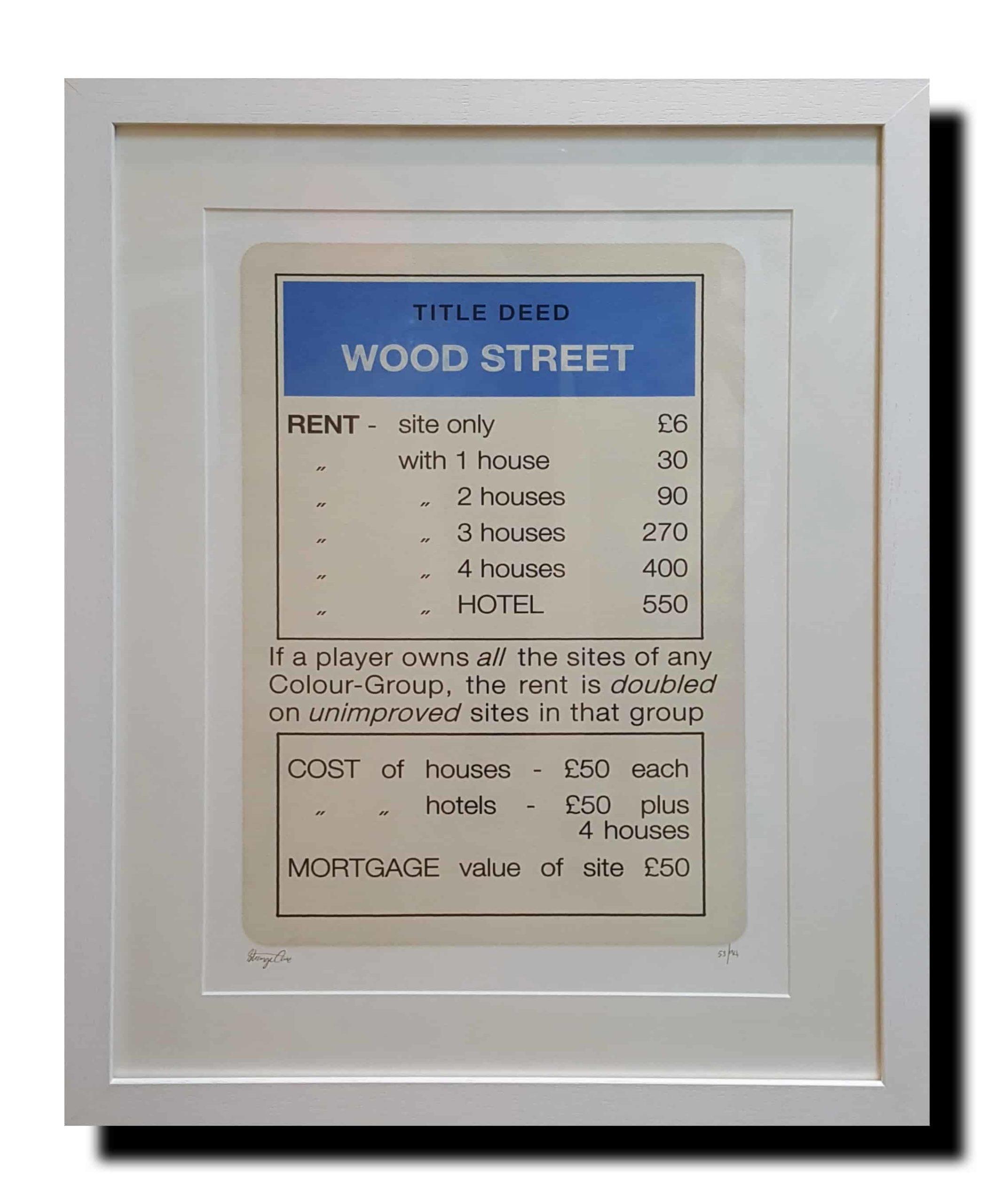 Blue wood street framed