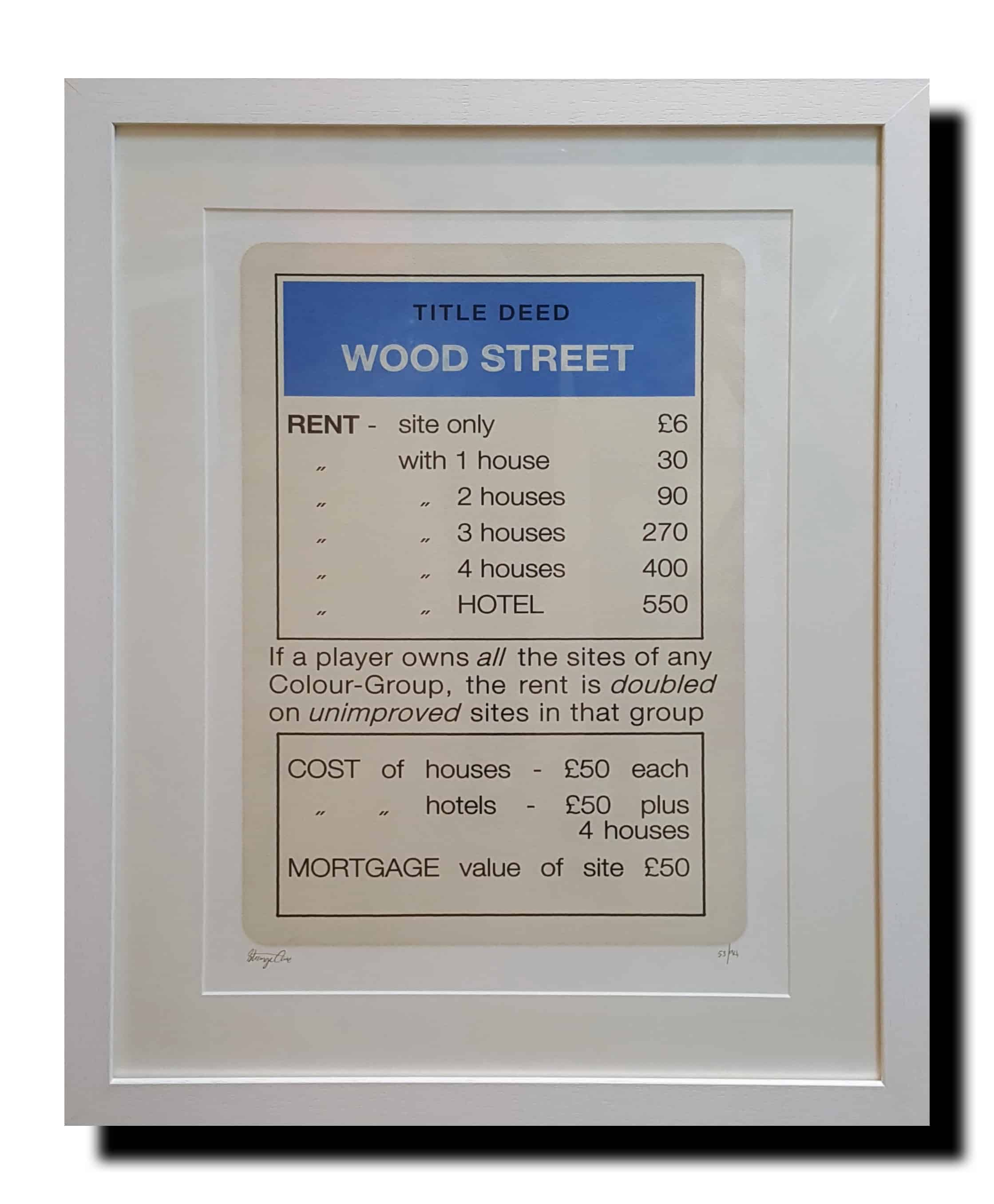 blue wood street framed