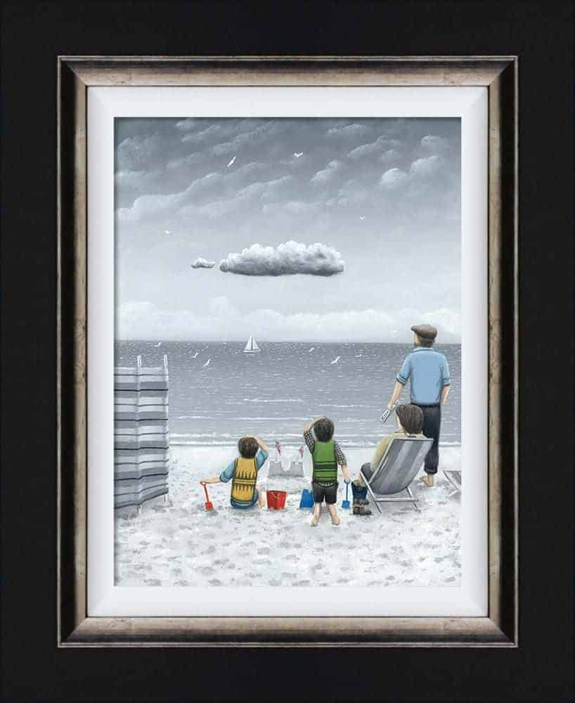 Trouble on the horizon canvas framed