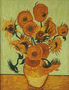 In The Style Of Van Gogh – Sunflowers (Yellow)