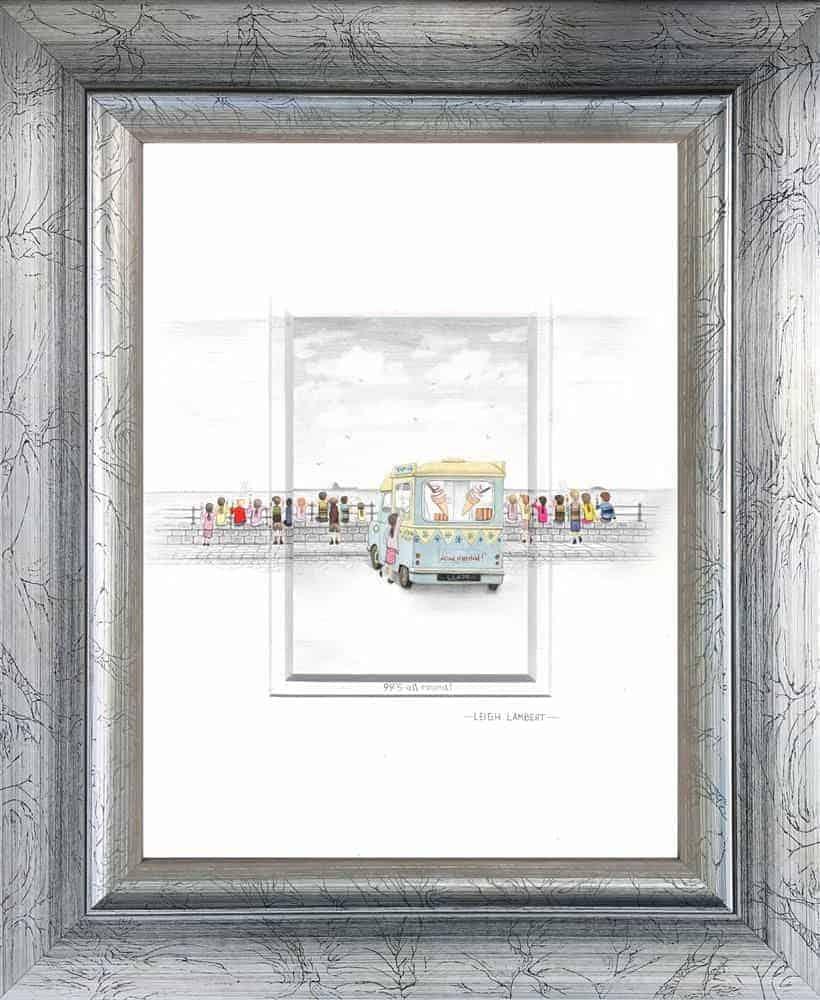 99's all round sketch framed