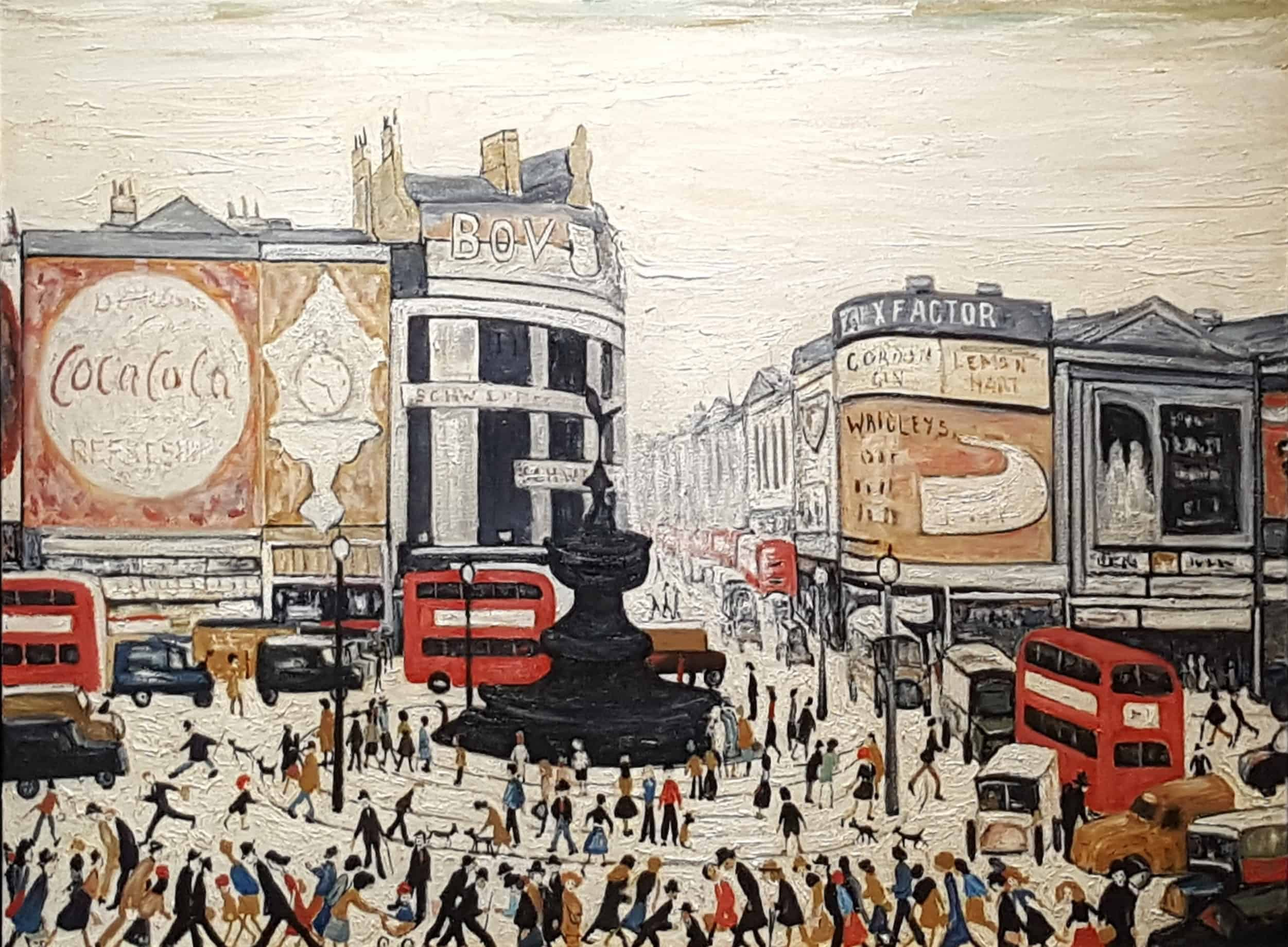 In The Style Of L.S. Lowry – Piccadilly Circus