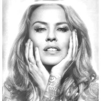 Kylie Minogue Black & White Tattoo Series By JJ Adams