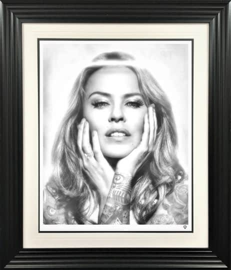 Kylie Minogue Black and White Tattoo series