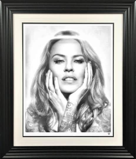 Kylie Minogue Black and White Tattoo series