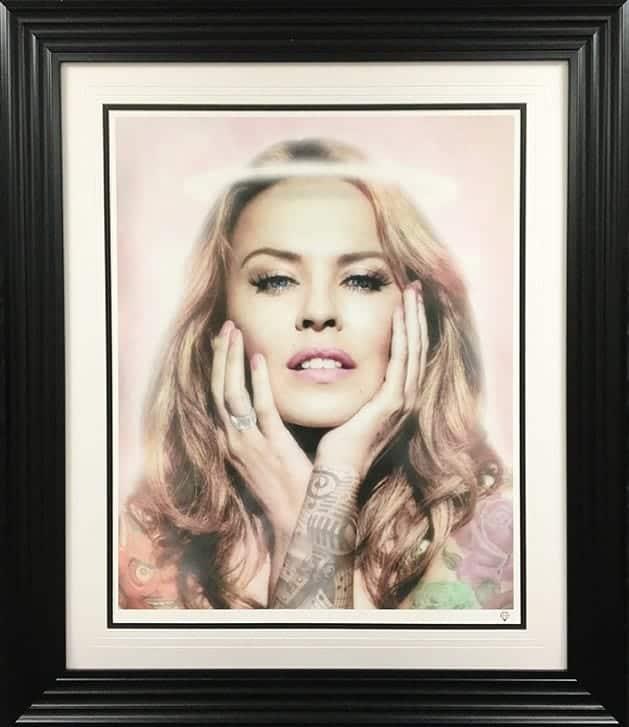 Kylie Minogue Colour Tattoo Series Framed