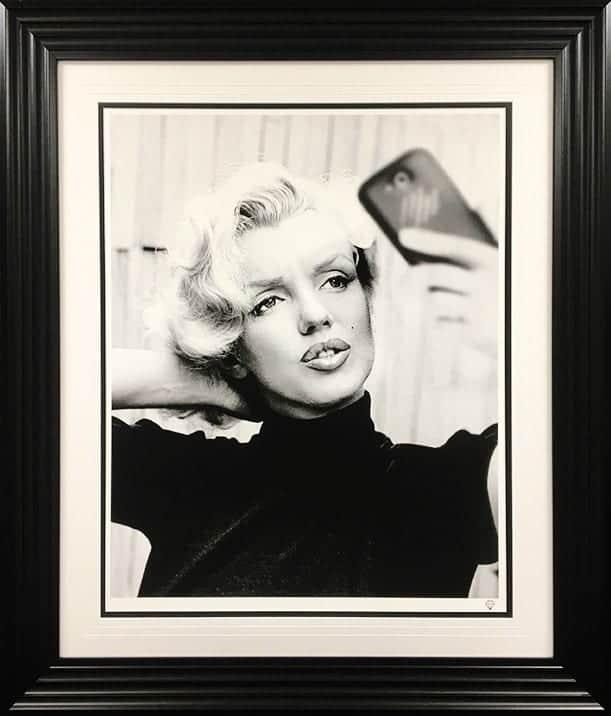 Monroe Selfie Framed