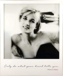 Princess Diana Selfie- Lightbox Edition