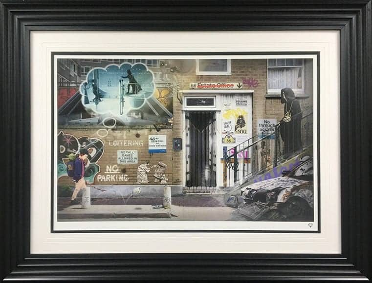 School Walker- Star Wars  JJ Adams Framed