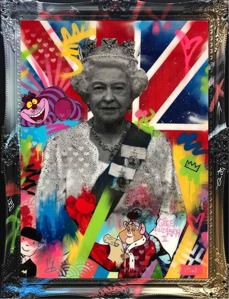 queen liz 2 framed