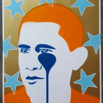 Crying Obama-Post Card to Cuba