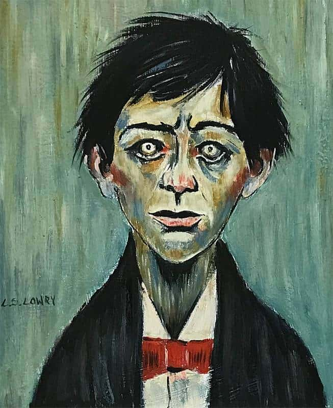 L.S. Lowry - Man With Bow Tie