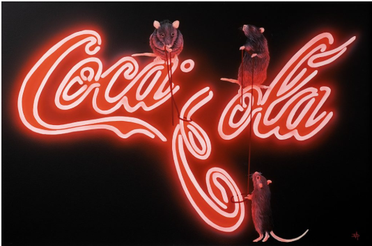 Coca Cola Rats by Dean Martin