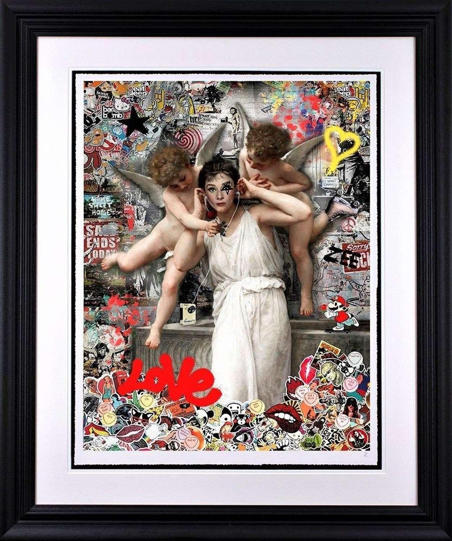 Love by Zee mounted paper