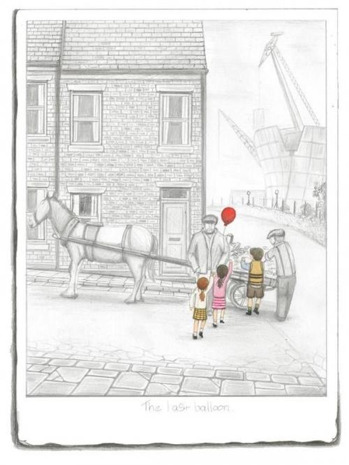 The Last Balloon Sketch by Leigh Lambert
