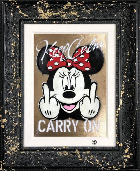 Keep Calm Minnie Gold