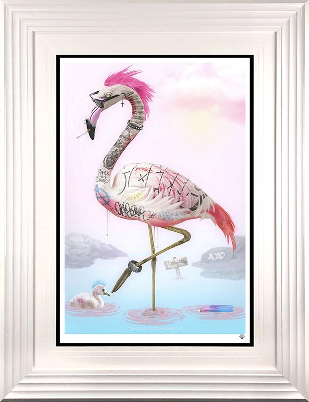 punk flamingos white