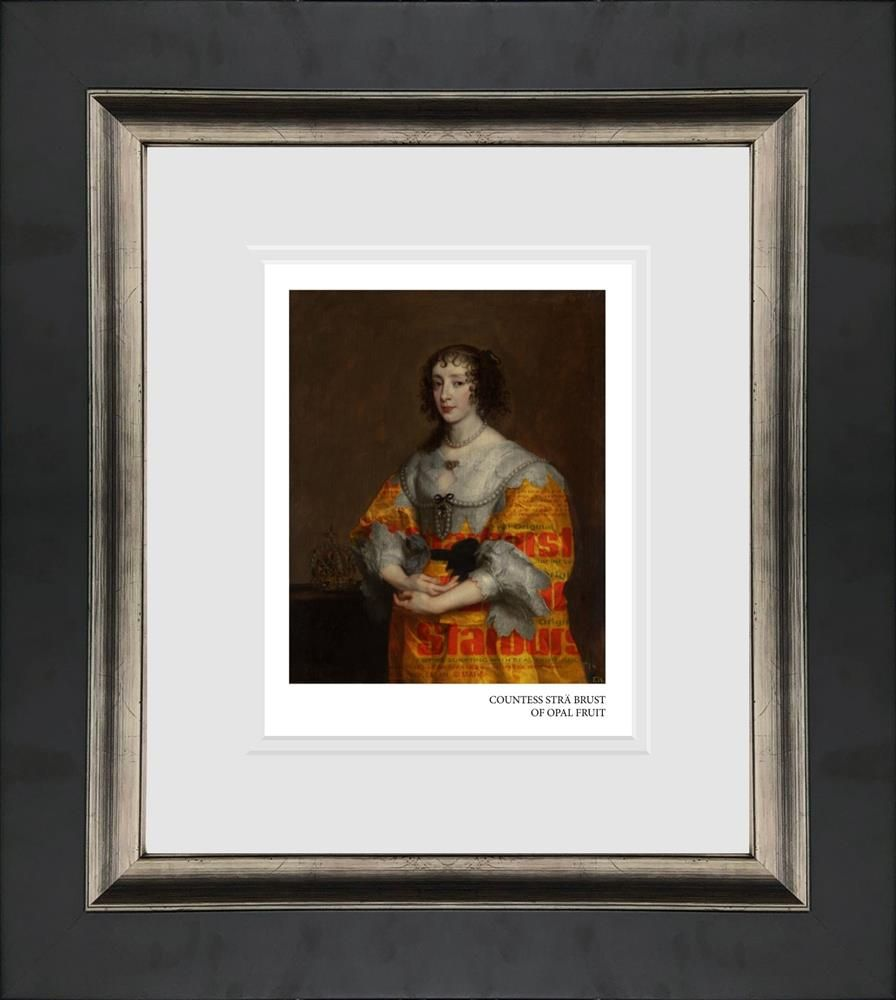 countess stra brust of opal fruit framed