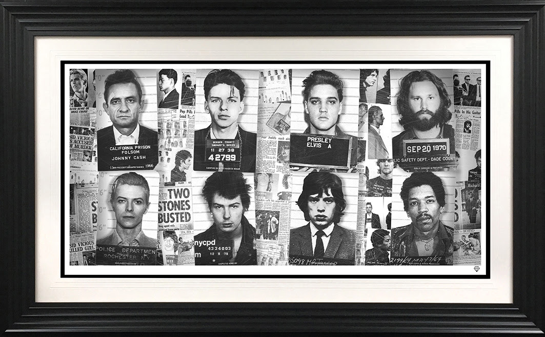 musics most wanted framed b